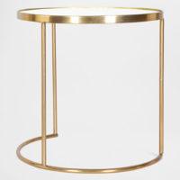 Mesa de apoio dourada